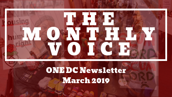 ONE DC MONTHLY VOICE MARCH 2019