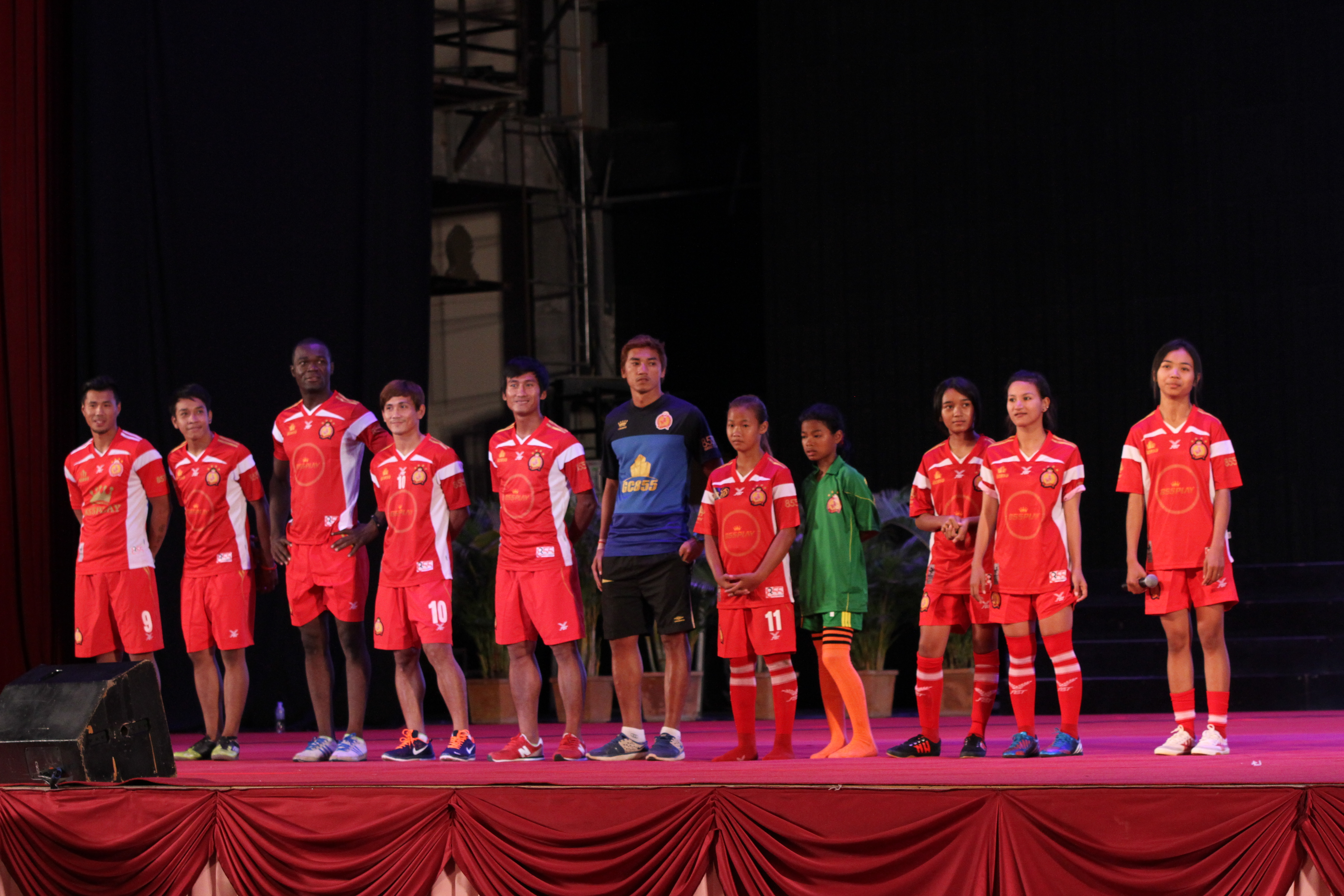 Phnom Penh Crown Football team during National Youth Festival