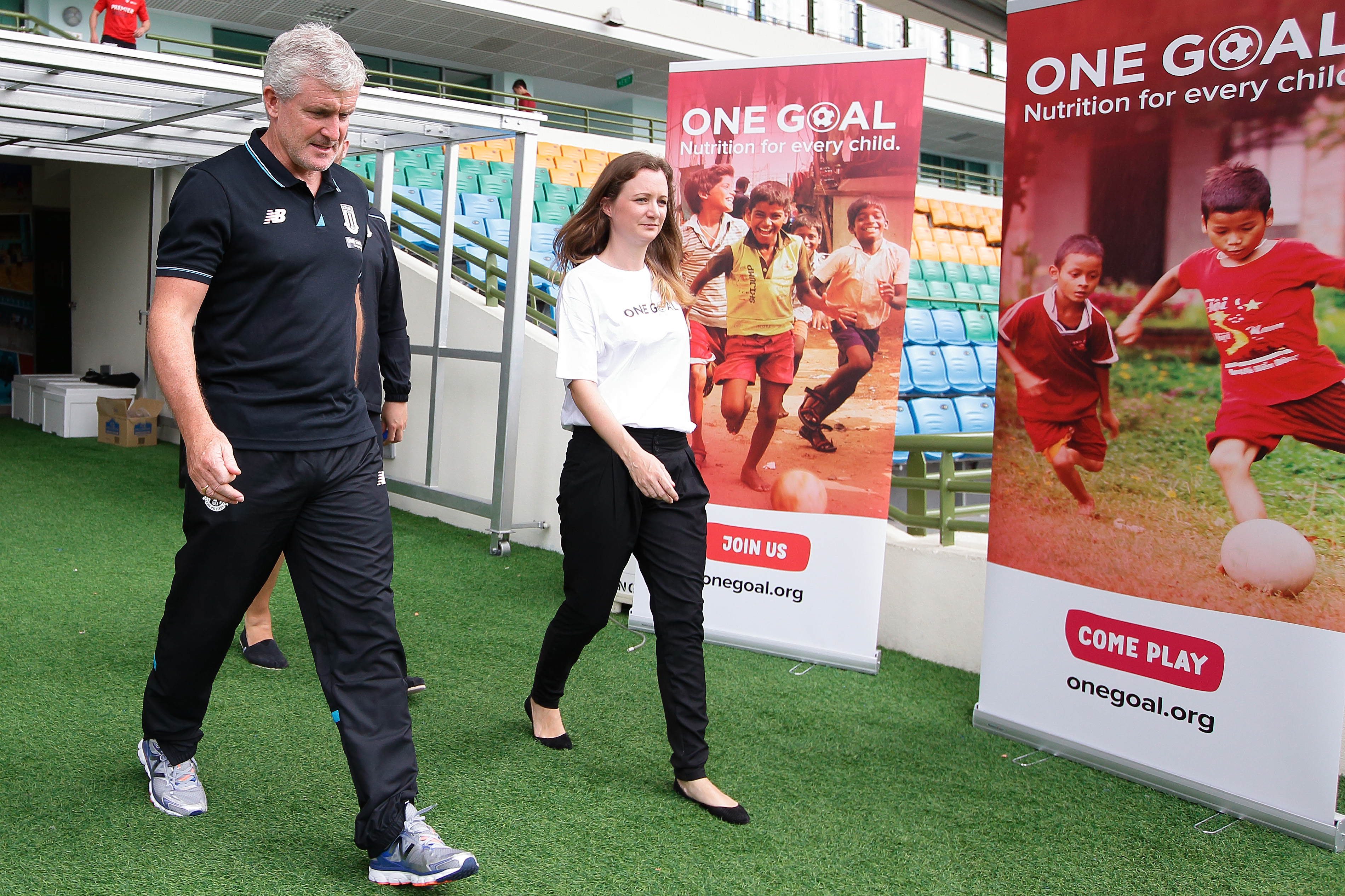 Stoke and One Goal for nutrition at Barclays Asia Trophy