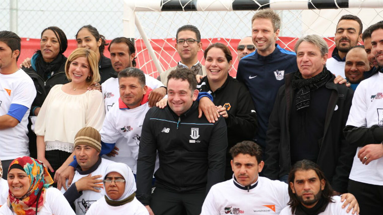 Refugee camp youth football league gets its start thanks to a Premier League training progamme