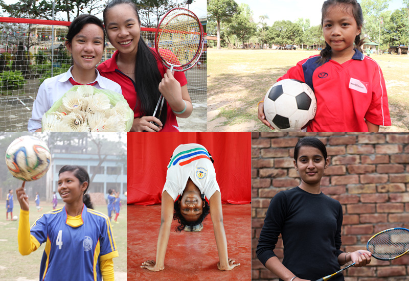 Girls in the game - Meet 6 young female athletes championing Sport in their communities
