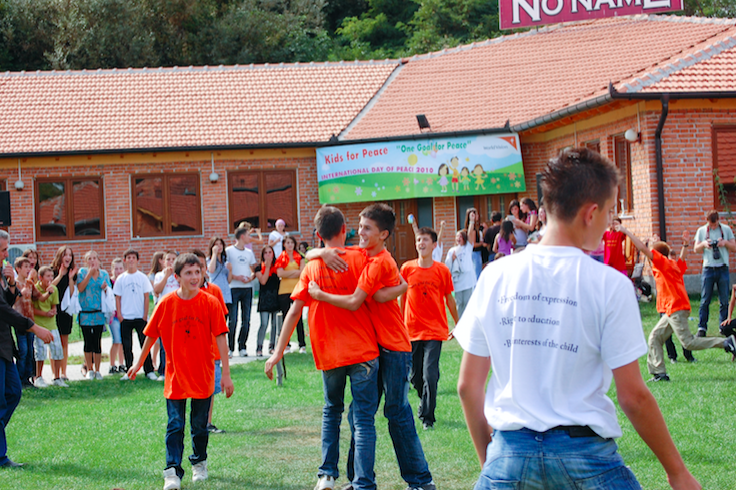 Kids and football bridge the cultural divide in this Kosovo town
