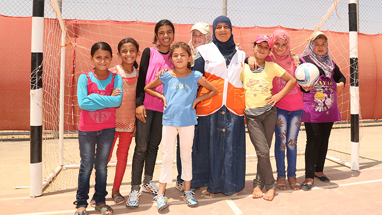 Update from the pitch: Azraq Refugee Camp