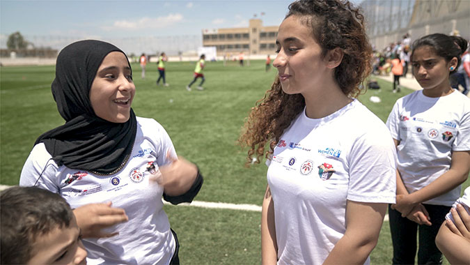 Football camps in Jordan plant seeds of friendship and cohesion