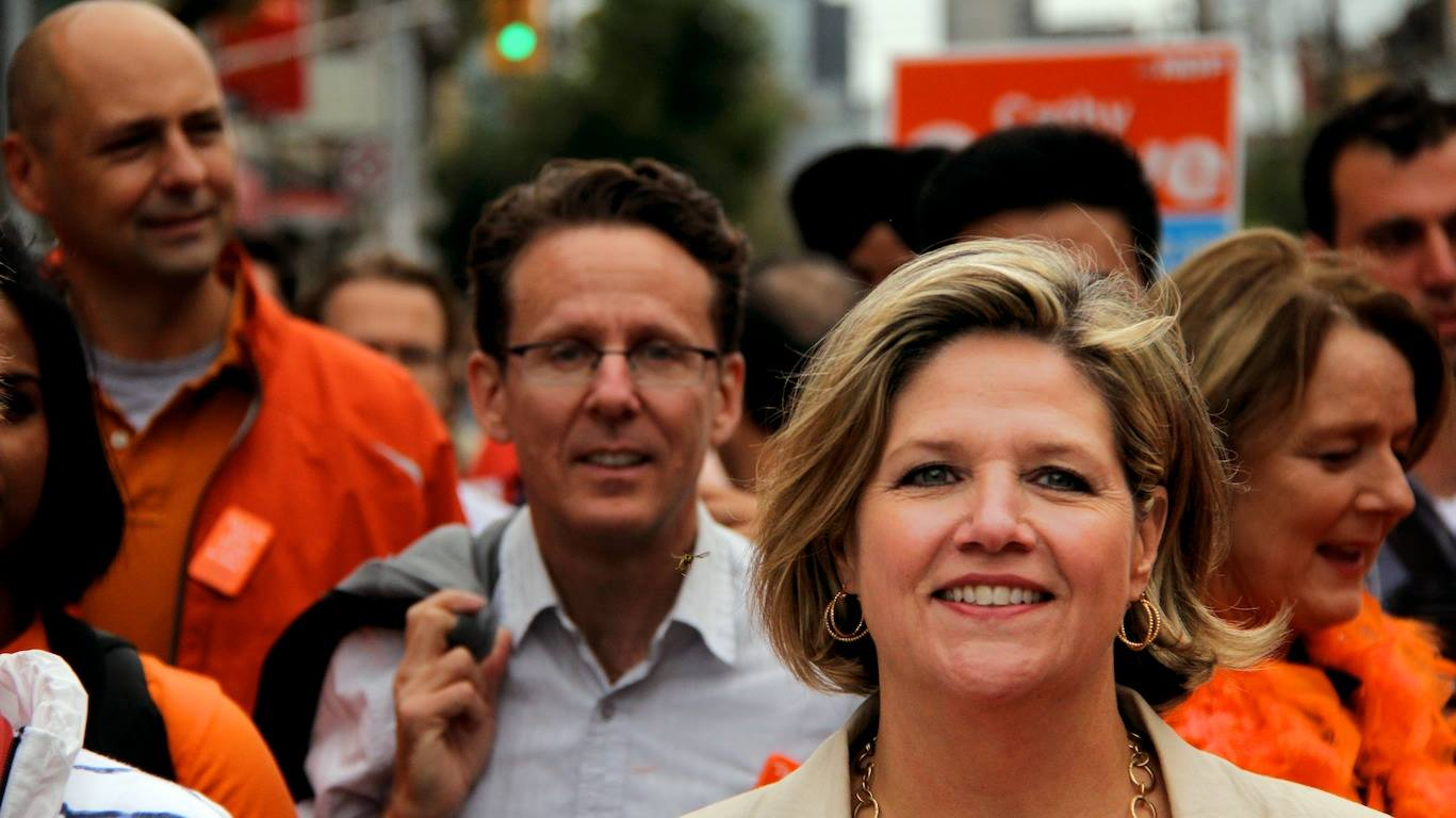Andrea Horwath at Toronto Labour Day