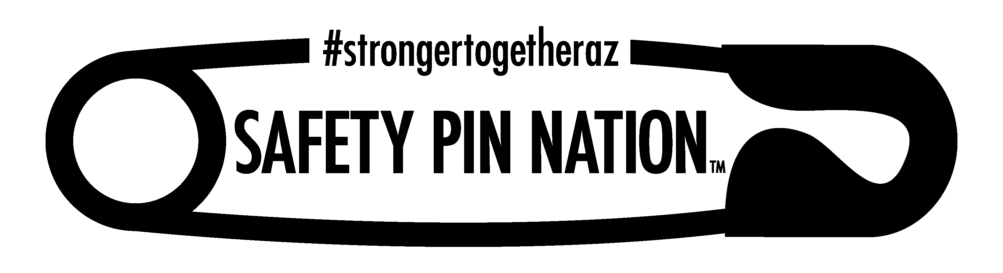 #StrongerTogetherAZ Safety Pin Nation