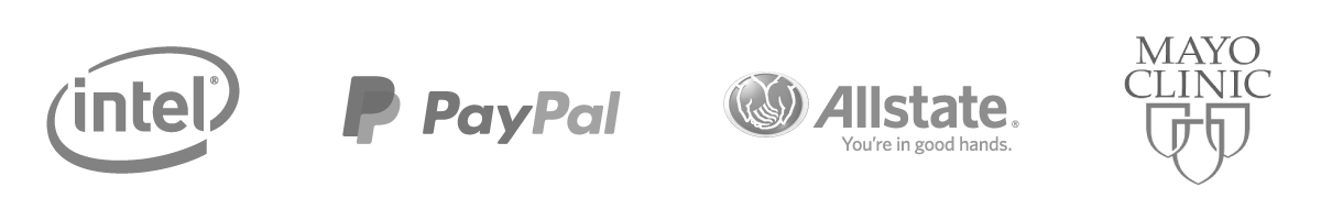 Intel, Paypal, AllState, Mayo Clinic Logo - Unity Pledge