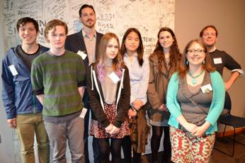 2015 Scholarship winners and honorable mentions with judges