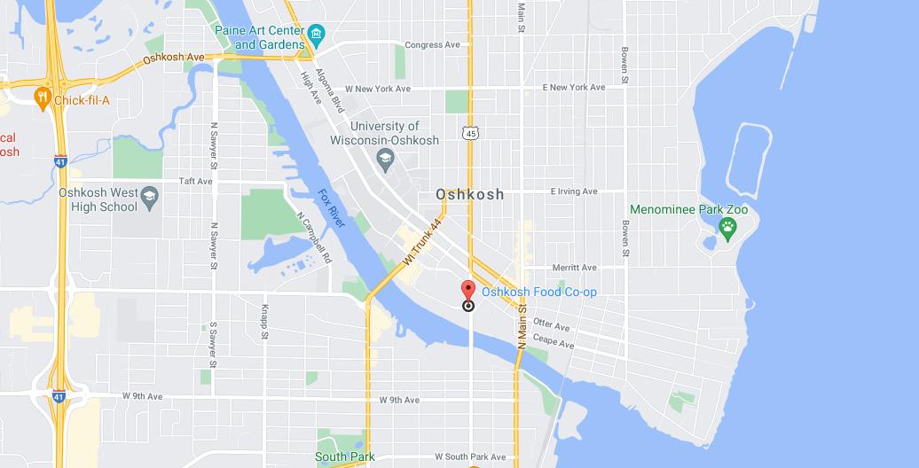 Oshkosh Food Co-op on Maps
