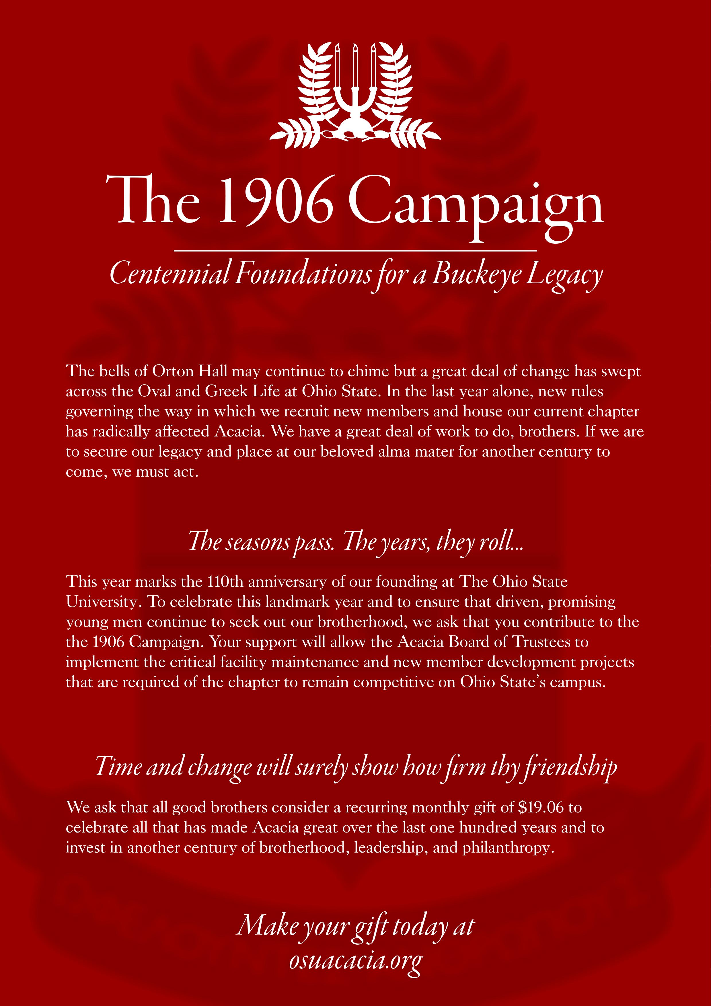 1906 Campaign Flier