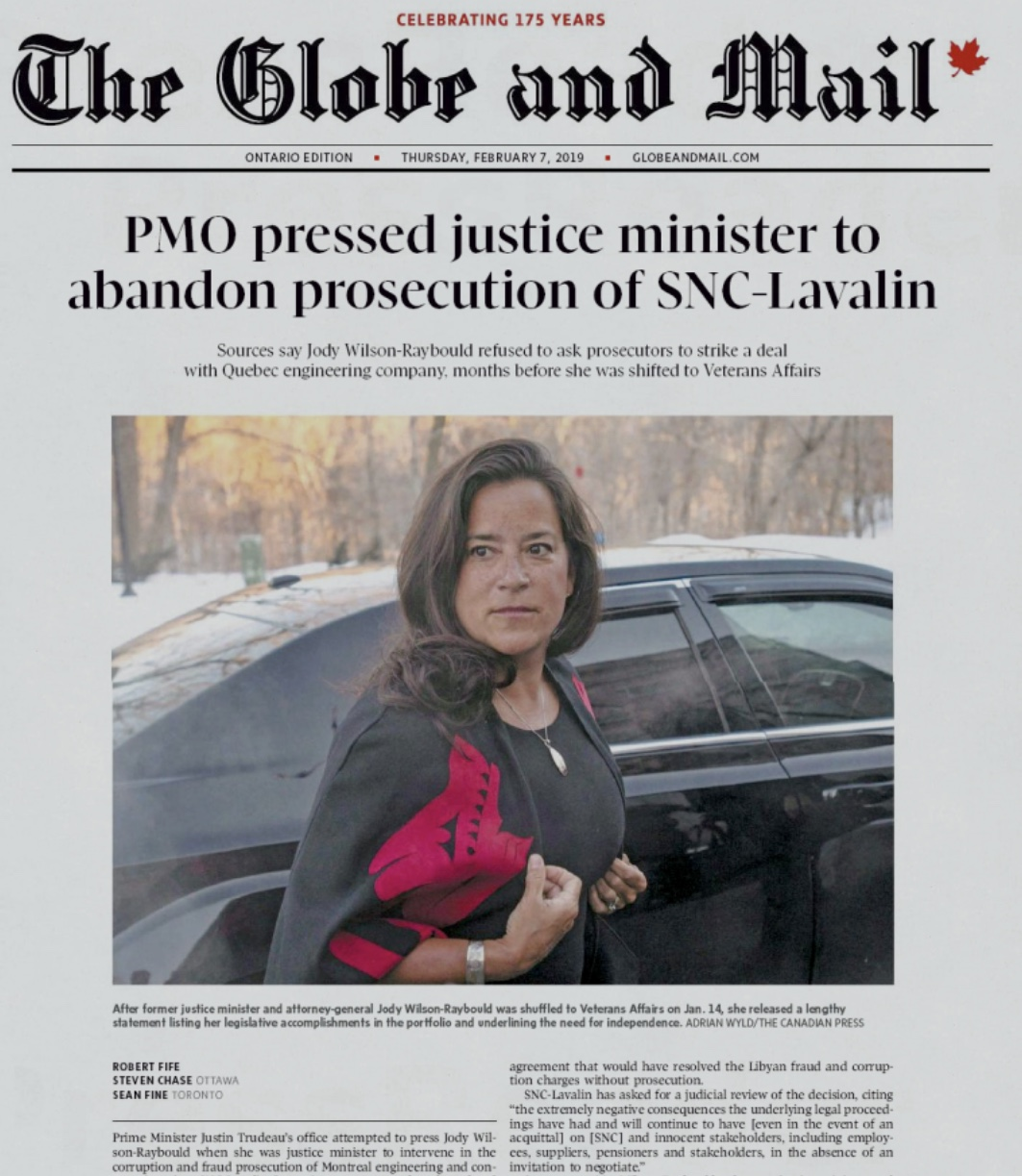 Let Jody Wilson-Raybould Speak