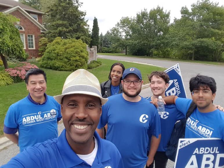 Proud to hit the doors in Ottawa West-Nepean with amazing team #Abdulabdi