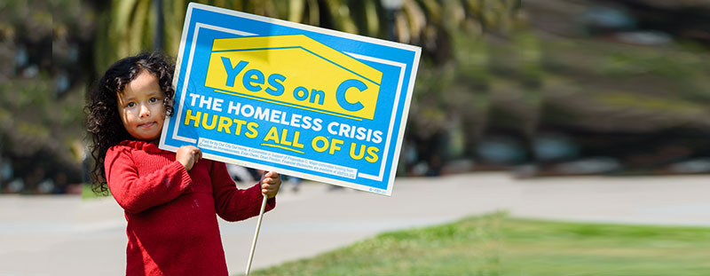 Yes on Prop C San Francisco 2018  – Our City Our Home