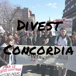 Divest Concordia Website