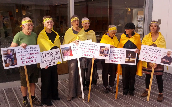 Supergrans with placards