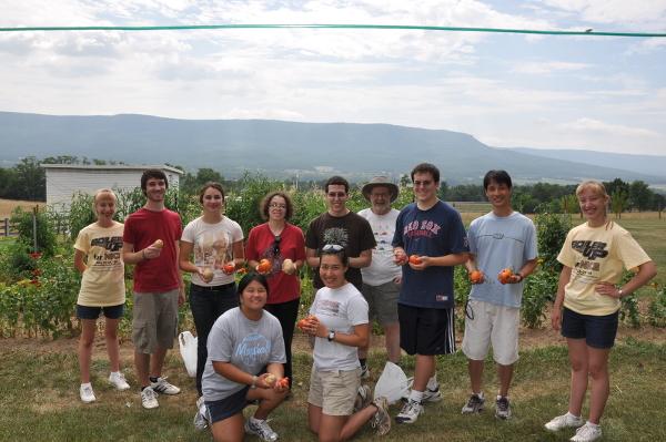 OT garden volunteers