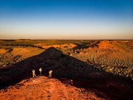 Surveying Jump-up country, Pullen Pullen Night Parrot Reserve, Channel Country by Lachlan Gardiner