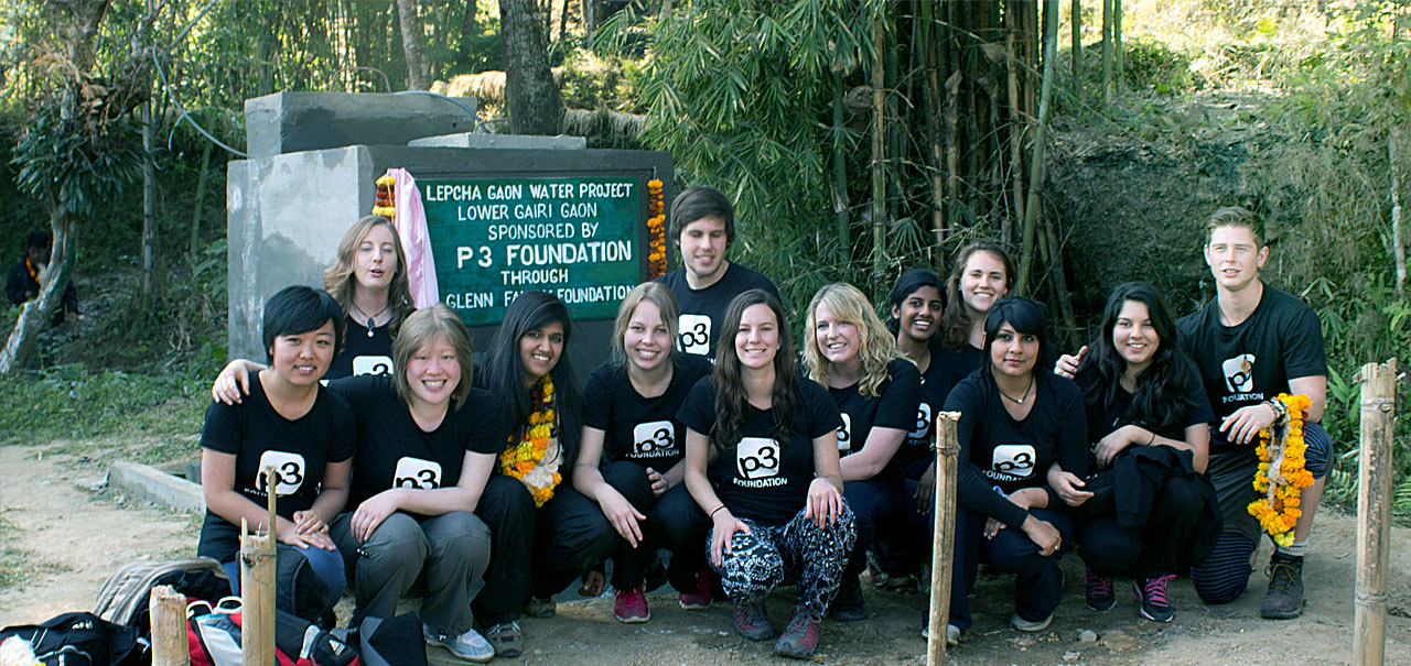 P3 volunteers in Kalimpong