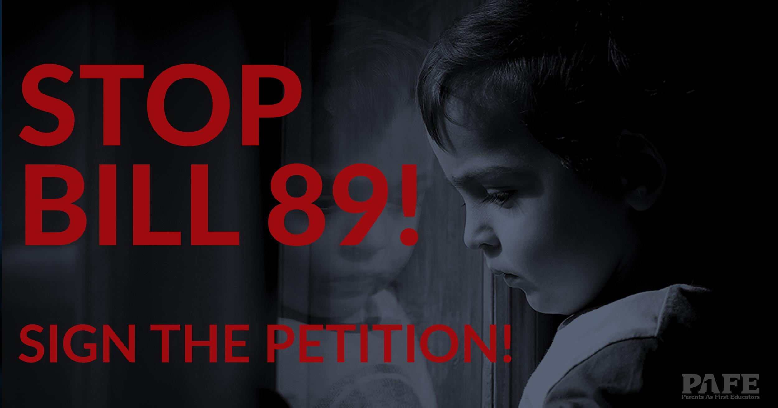 Stop Bill 89 banner