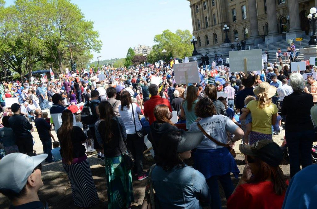 Edmonton Legislature Rally