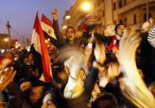 Civilians demonstrate for democracy in Egypt