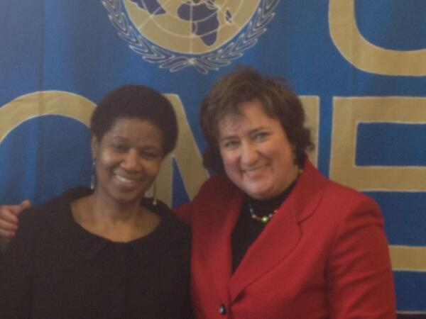 Zita Gurmai with Phumzile Mlambo, Executive Director of UN Women