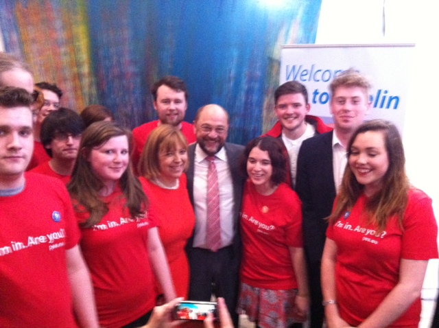 Martin Schulz with Irish Labour Youth