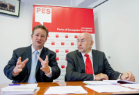 Ruairi Quinn, Minister for Education, Ireland and Philip Cordery, PES General Se