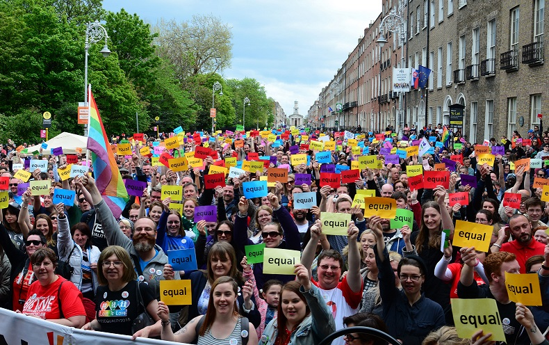 People demonstrate in Ireland in favour of equal marriage