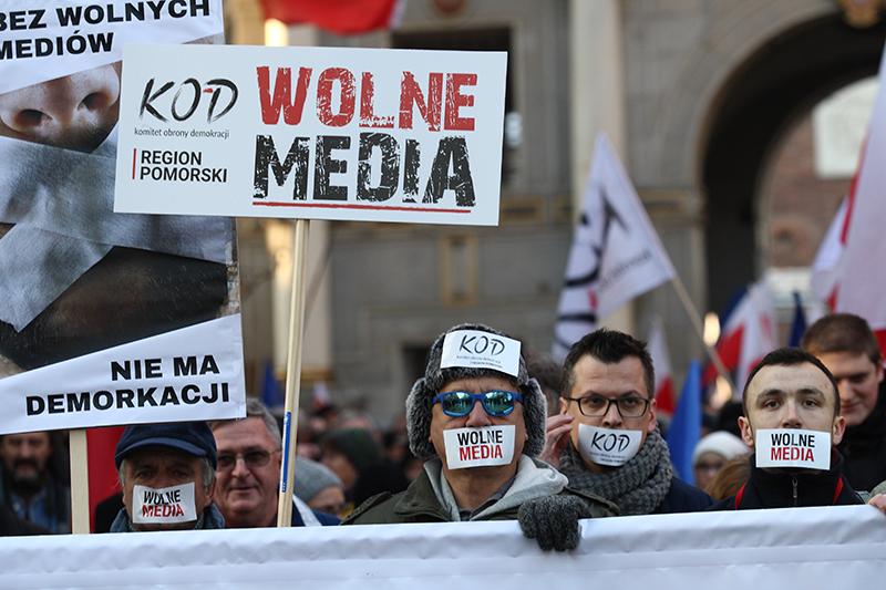 Poland - demonstration for freedom of media