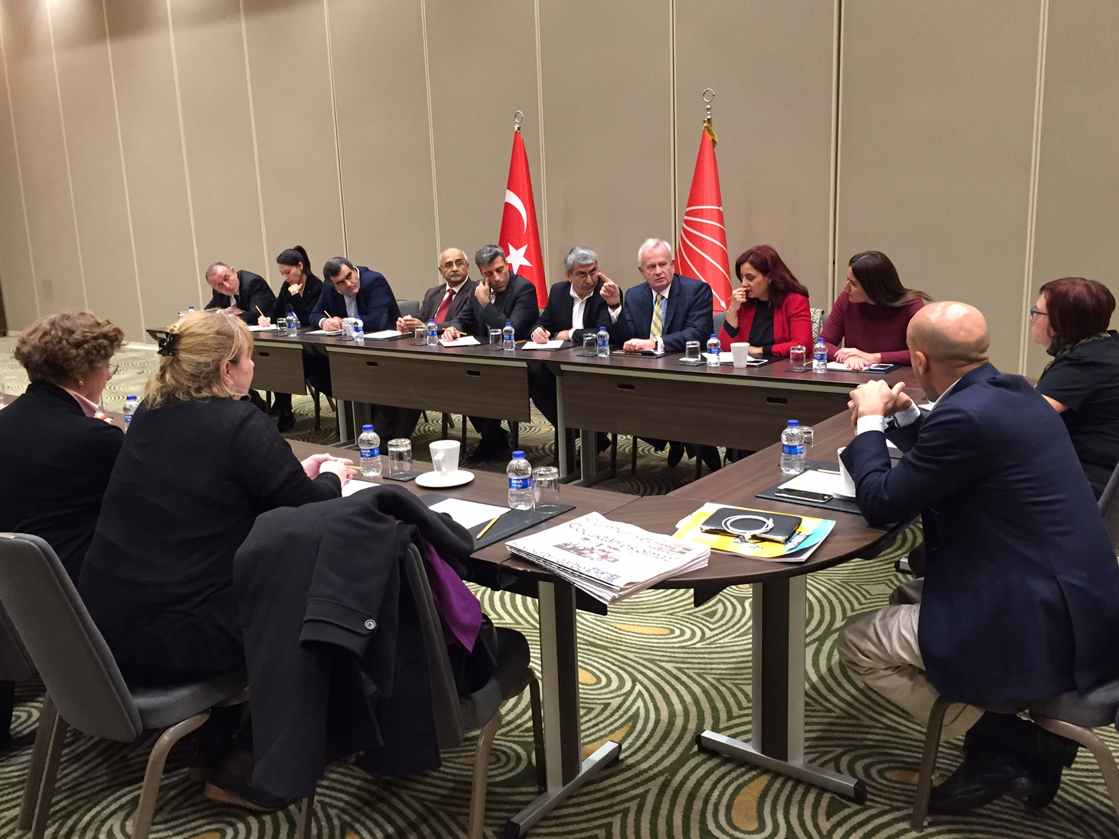 PES delegation with CHP members