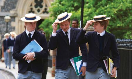 Public school boys at Harrow