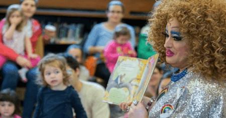 Drag queens parade in infant schools