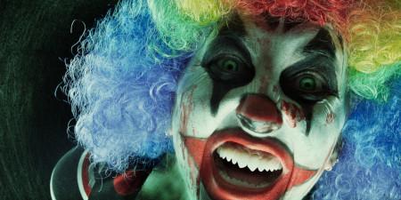 Evil beneath the clown mask