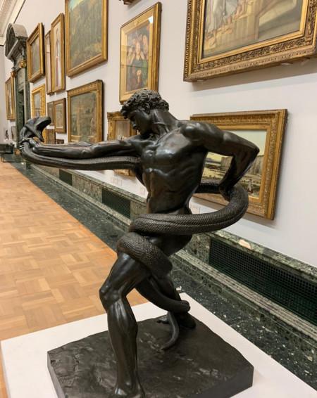 'An Athlete Wrestling with a Python'- 1877- Frederic Leighton