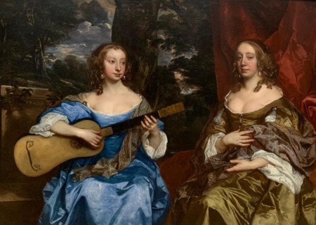 'Two Ladies of the Lake Family'- c.1660-Sir Peter Lely
