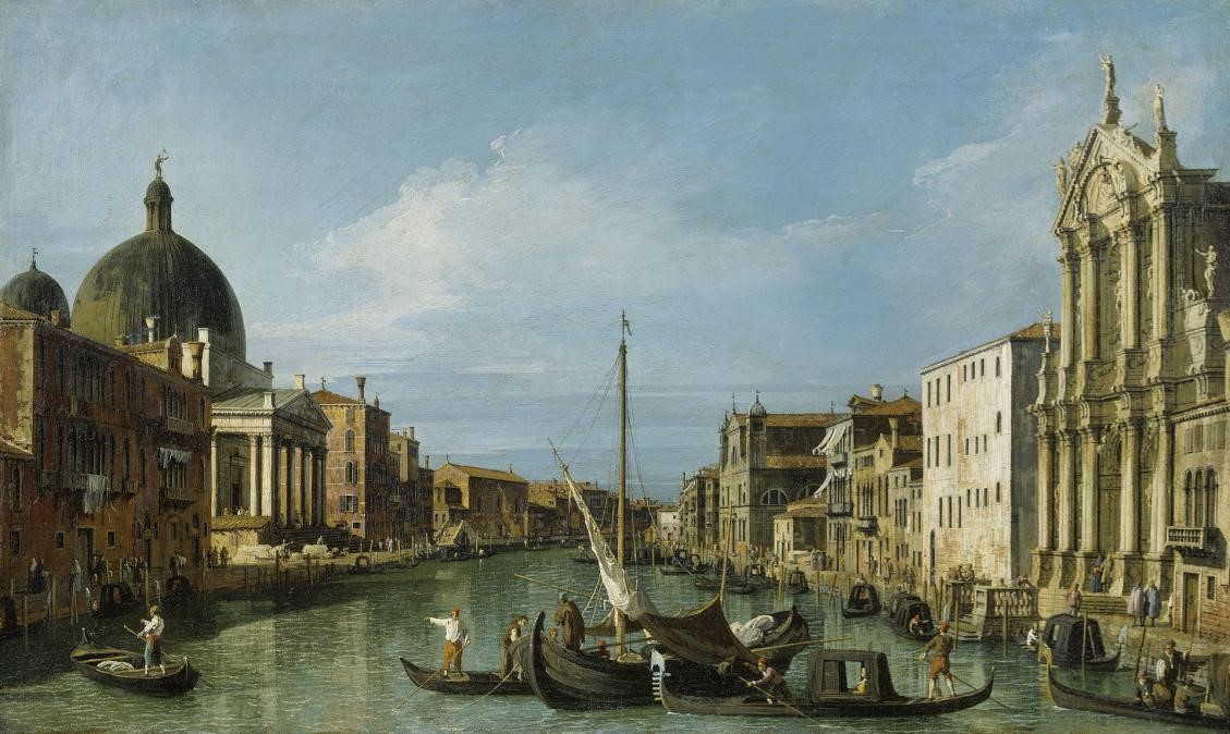 The Grand Canal with the Scalzi and San Simeone Piccolo -1726
