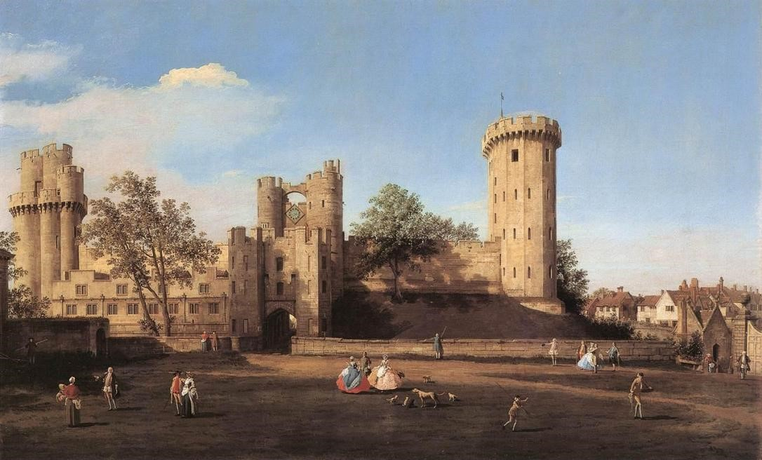 Warwick Castle, the East Front from the Outer Court-1752