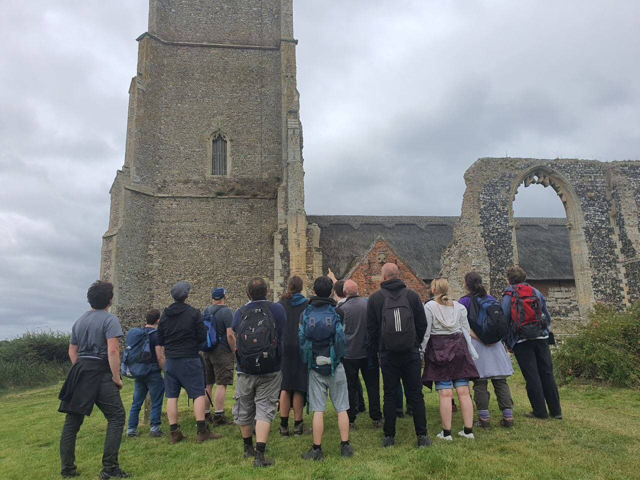 PA group hike visited a ruined church in Suffolk