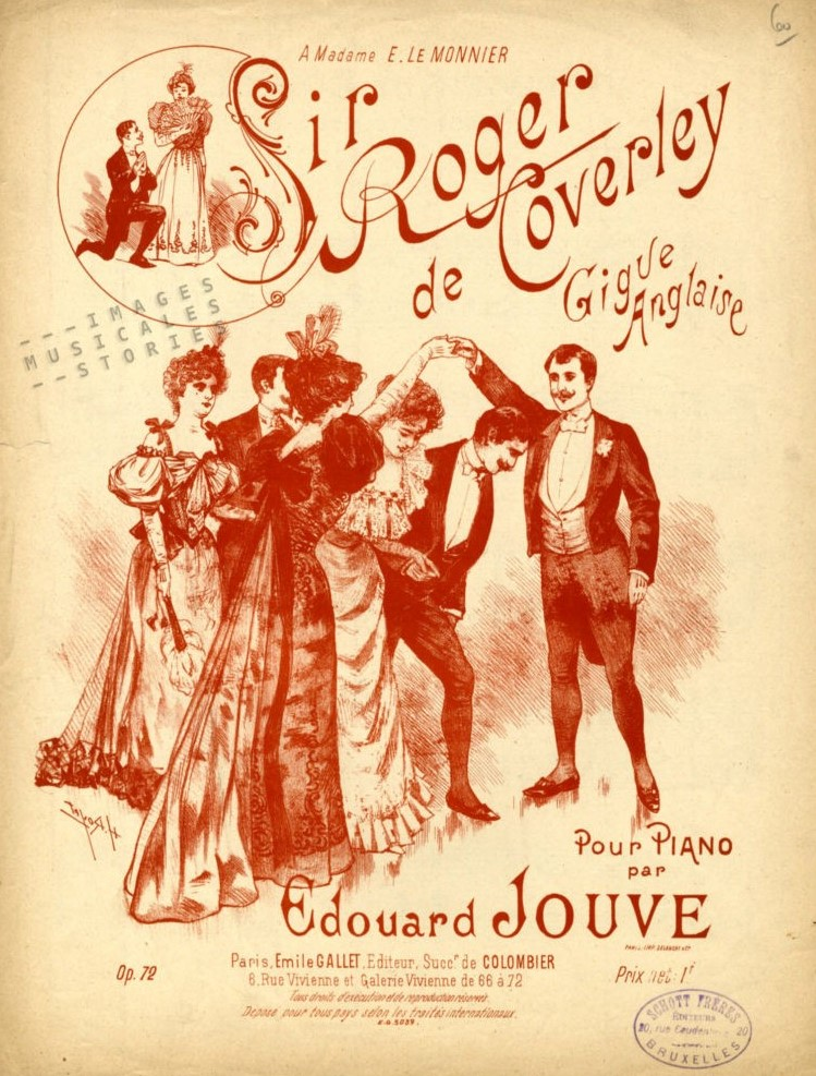 Sir Roger de Coverley French music sheet