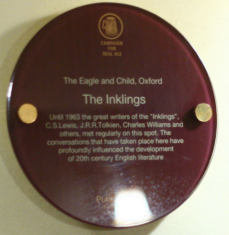 Inklings sign Eagle and Child Oxford