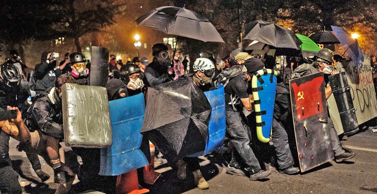 Antifa rioting in Portland