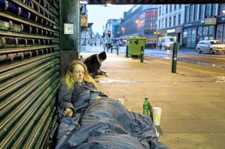 Rough sleepers in Glasgow