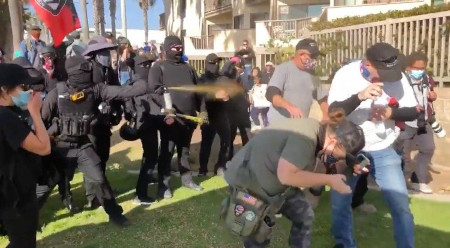 Soros funded Antifa mob attack Trump supporters