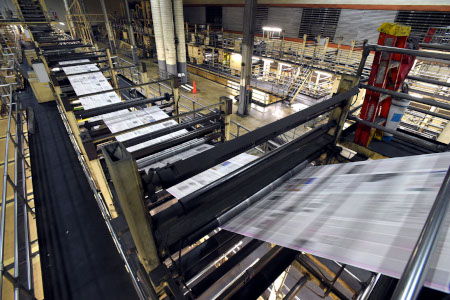 Large scale printing press
