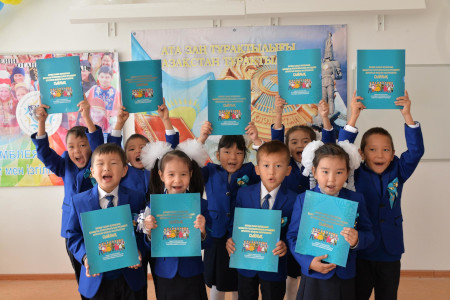 Kazakh children now a majority again