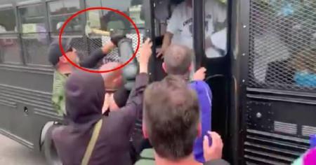 Violent ANTIFA thugs attack journalist on bus