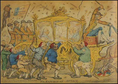 Illustration of attack on the King's coach