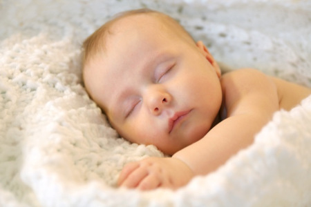 Sleeping new born baby