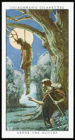 Herne hanging from the oak tree